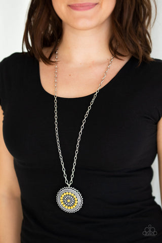 Paparazzi Necklace-Lost Sol-Yellow