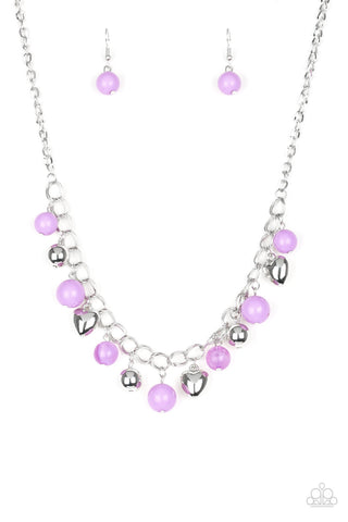 Paparazzi Necklace-Summer Fling-Purple