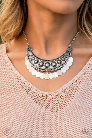 Paparazzi Necklace-Chimes Up-Silver