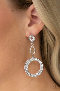 Paparazzi Earrings-On the Glamour Scene-White