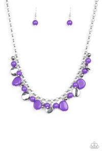Paparazzi Necklace-Flirtatiously Florida-Purple