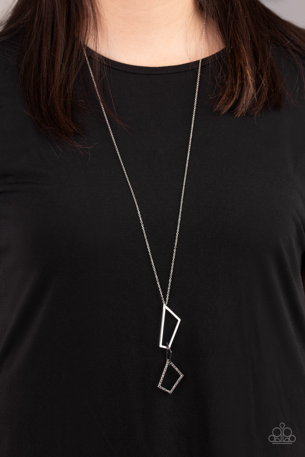 Paparazzi Necklace-Shapely Silhouettes- Silver