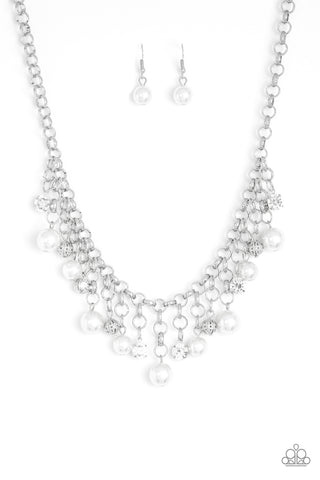 Paparazzi Necklace-Heir Headed-White