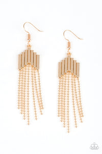 Paparazzi Earrings-Radically Retro-Gold
