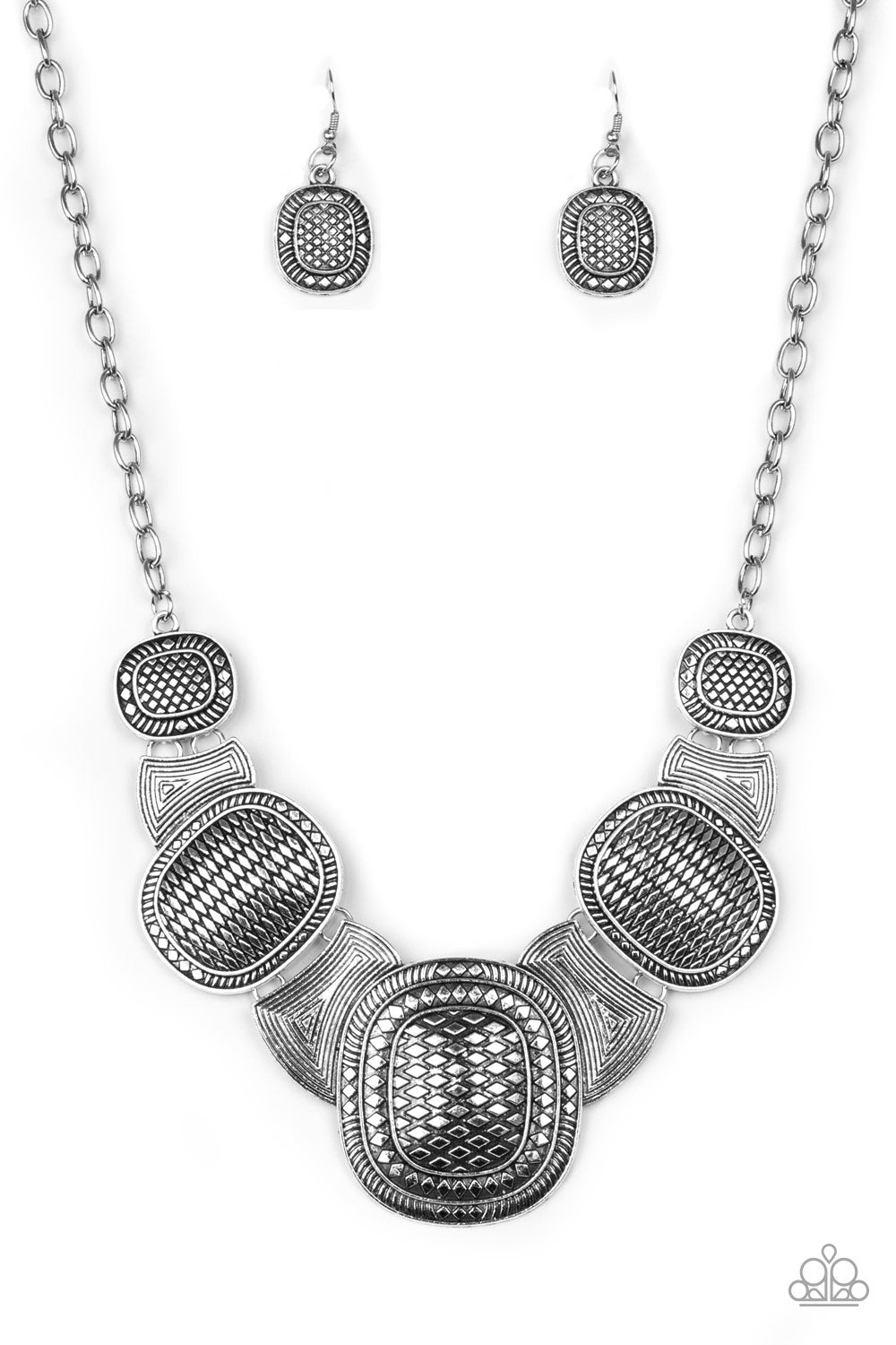 Paparazzi Necklace-Prehistoric Powerhouse-Silver