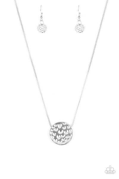 Paparazzi Necklace-The Bold Standard-Silver
