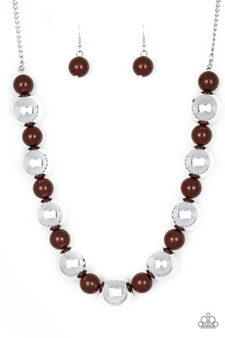 Paparazzi Necklace-Top Pop-Brown