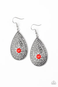 Paparazzi Earrings-Summer Sol-Red