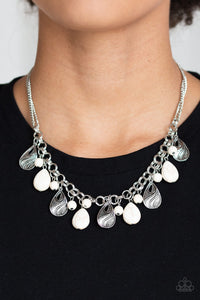 Paparazzi Necklace-Terra Tranquility-White