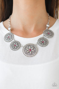 Paparazzi Necklace-Written in the Star Lillies-Pink