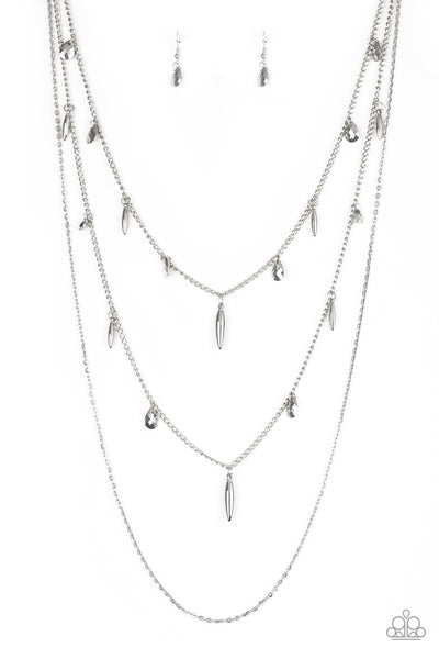 Paparazzi Necklace-Bravo Bravado-Silver
