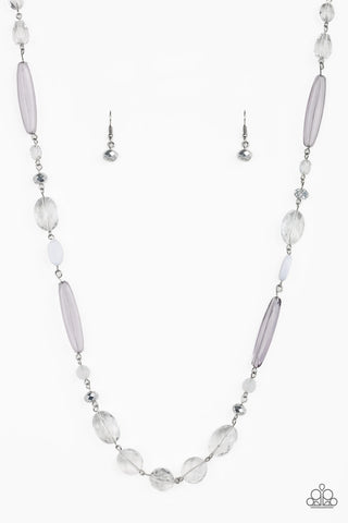 Paparazzi Necklace-Quite Quintessence-White