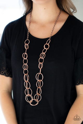 Paparazzi Necklace-Elegantly Ensnared-Copper