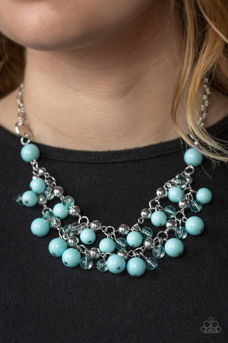 Paparazzi Necklace-Seaside Soiree-Blue