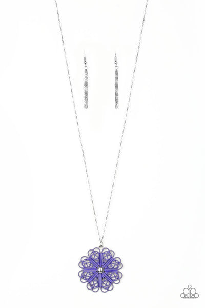 Paparazzi Necklace-Spin Your Pinwheels-Purple