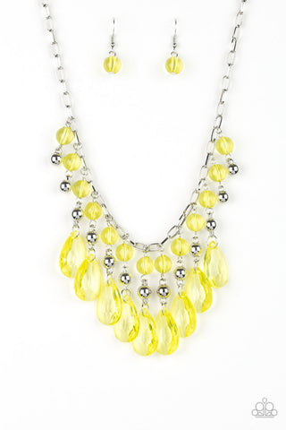 Paparazzi Necklace-Beauty School Dropout-Yellow