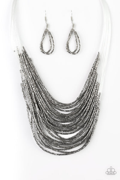 Paparazzi Necklace-Catwalk Queen-Gunmetal