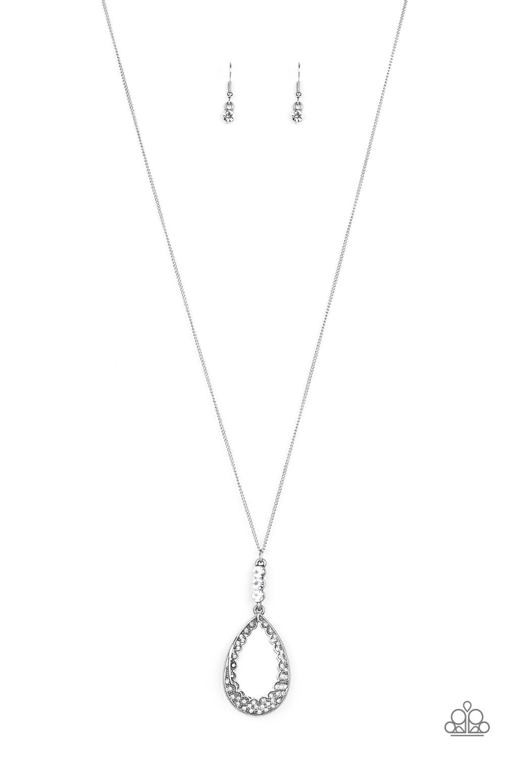 Paparazzi Necklace-Red Carpet Royal-Silver