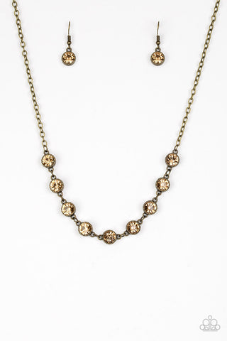 Paparazzi Necklace-Starlit Socials-Brass