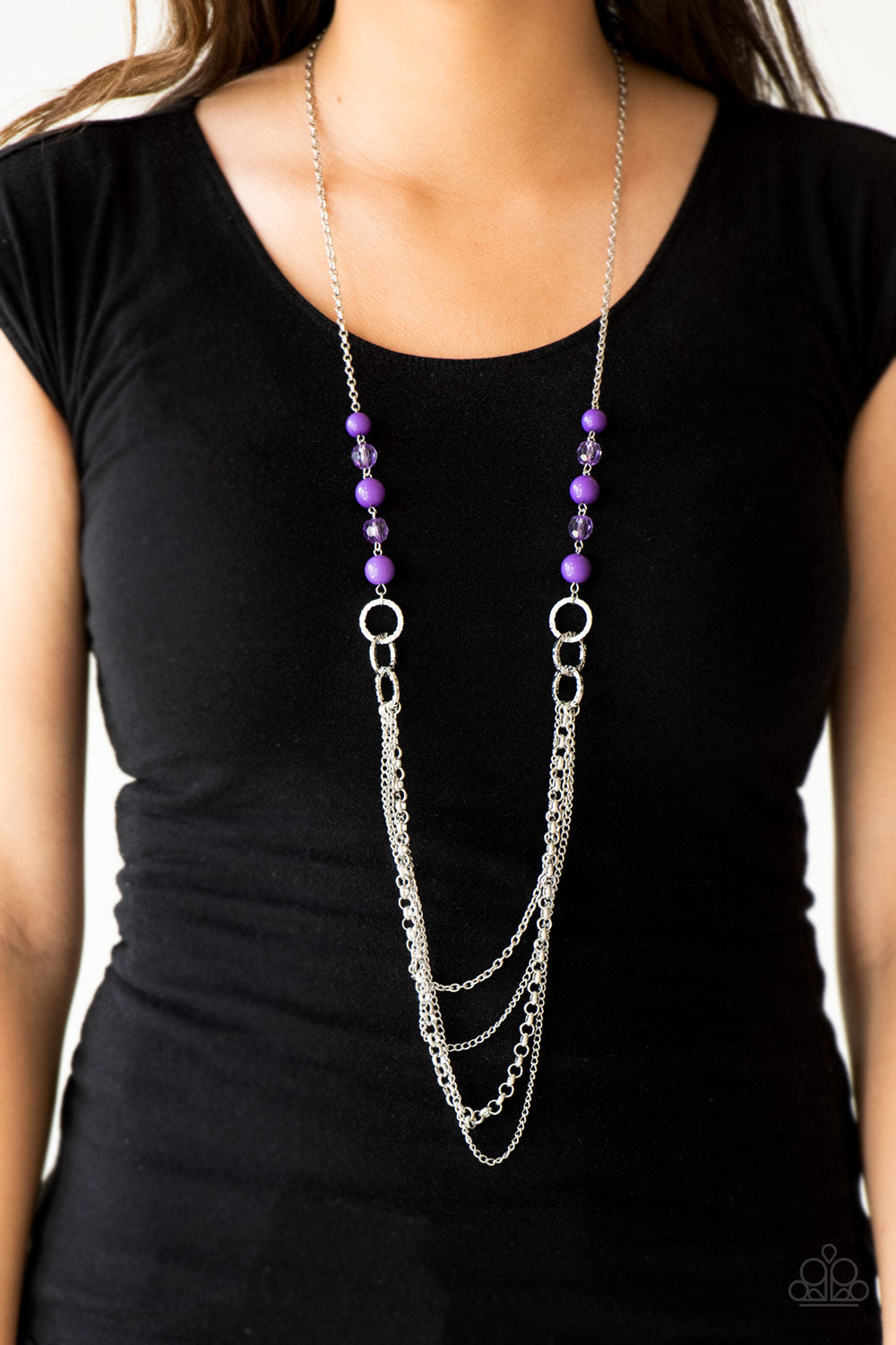 Paparazzi Necklace-Vividly Vivid-Purple