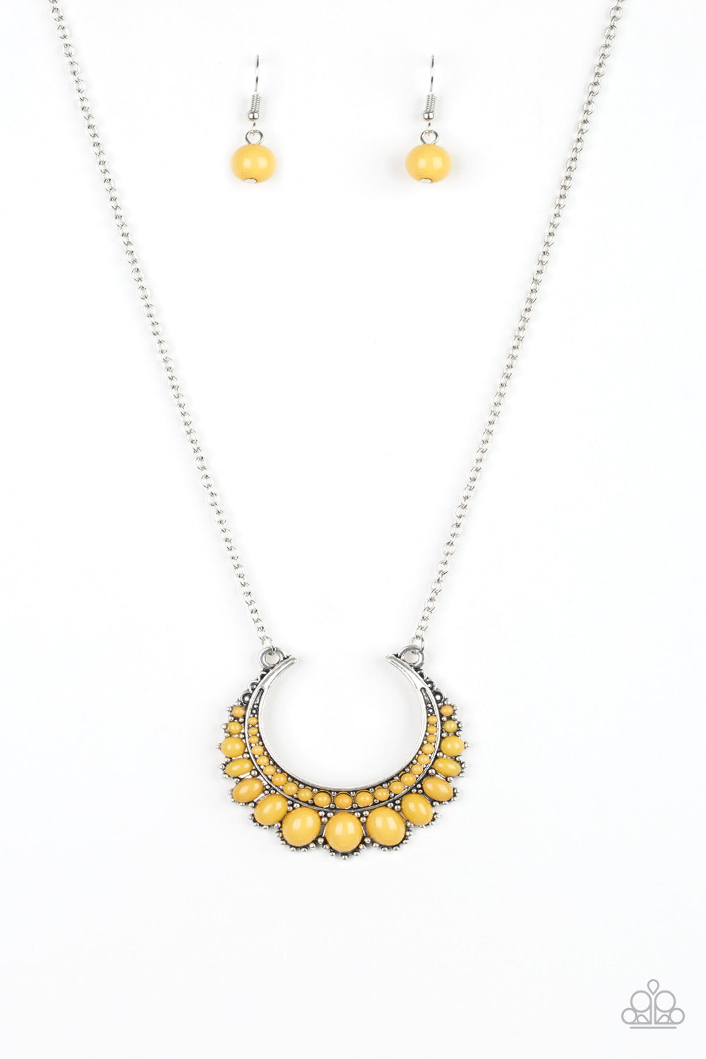 Paparazzi Necklace-Count to Zen-Yellow