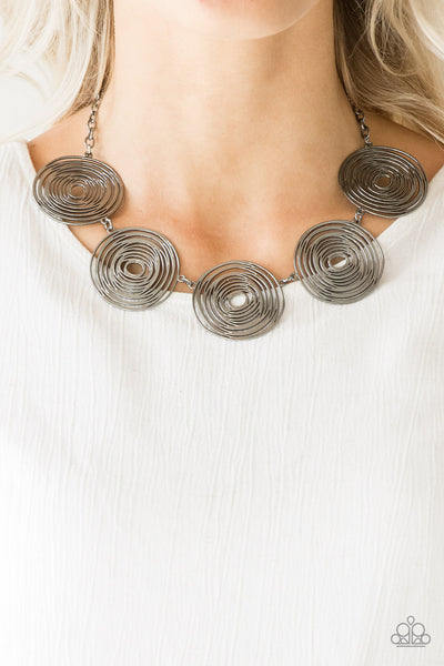 Paparazzi Necklace-Sol Mates-Gunmetal