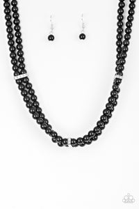 Paparazzi Necklace-Put on Your Party Dress-Black
