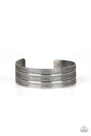 Paparazzi Bracelet-Patterned Plains-Silver