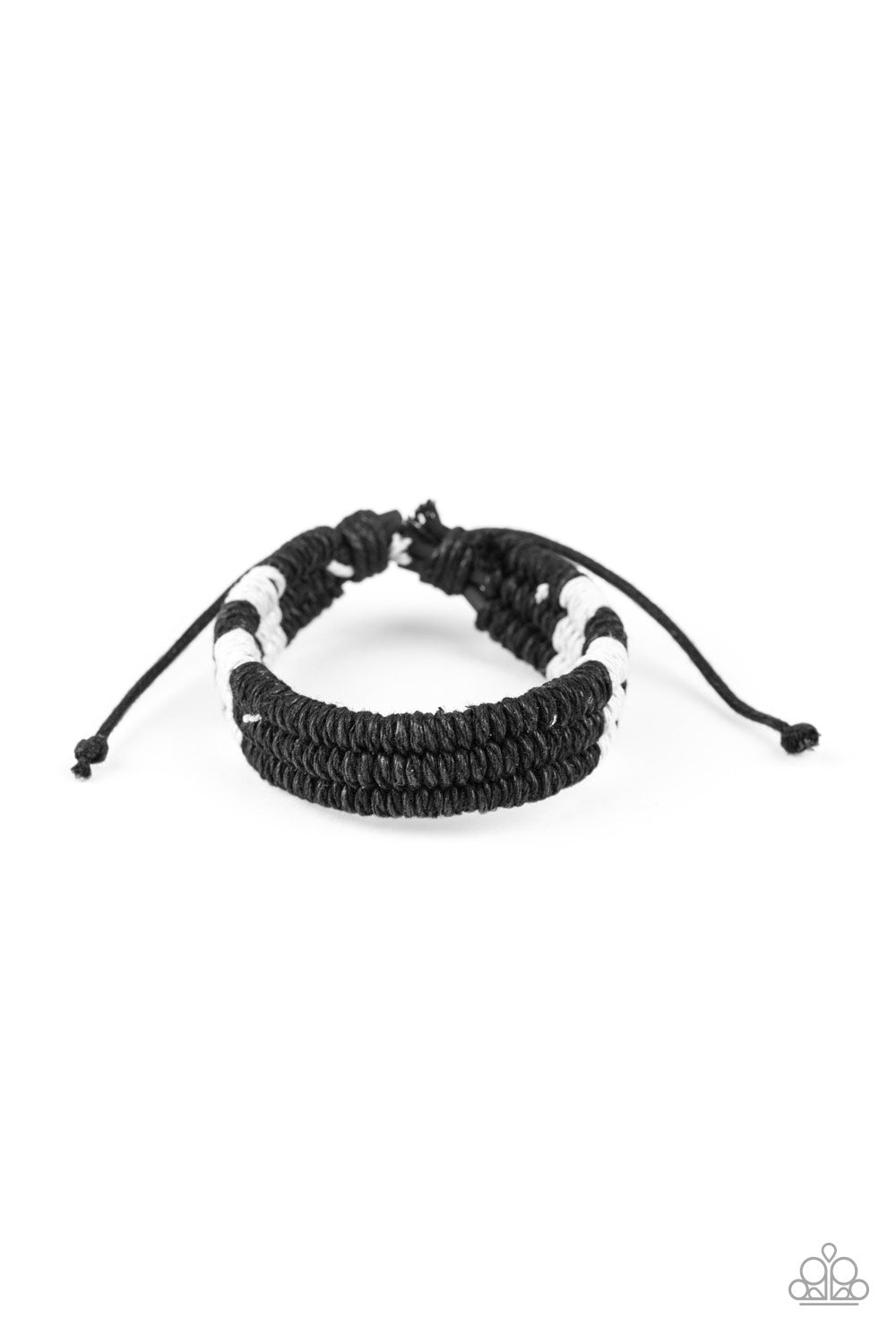 Paparazzi Men's Urban Bracelet-Rural Rogue-Black