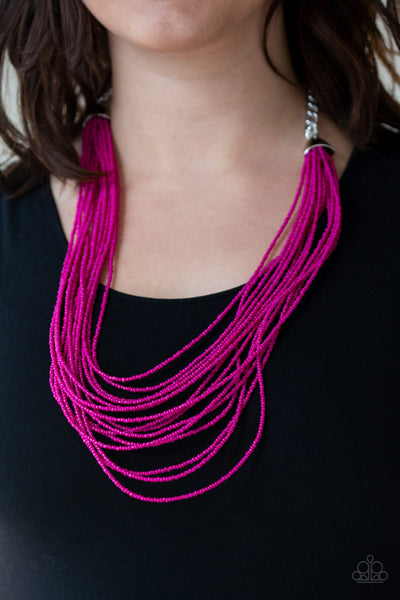 Paparazzi Necklace-Peacefully Pacific-Pink