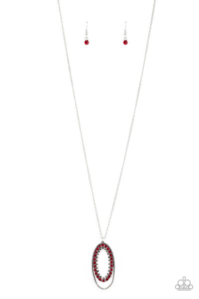 Paparazzi Necklace-Money Mood-Red