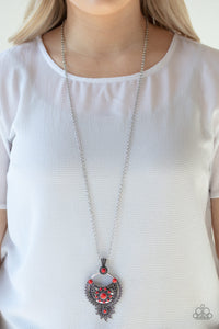 Paparazzi Necklace-Solar Energy-Red