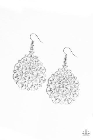 Paparazzi Earrings-Garden Party Princess-White