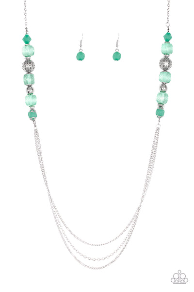 Paparazzi Necklace-Native New Yorker-Green