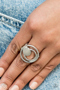 Paparazzi Ring-Edgy Eclipse-Silver