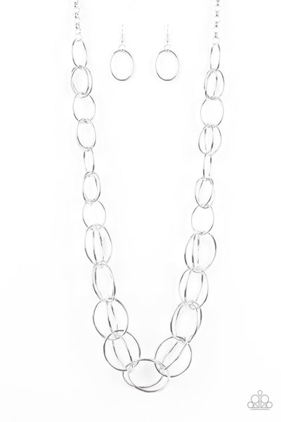 Paparazzi Necklace-Elegantly Ensnared-Silver