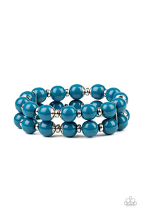 Paparazzi Bracelet-Bubble Blast Off-Blue