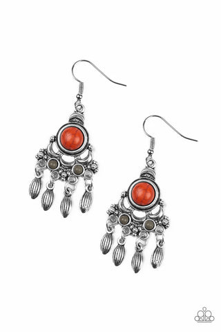 Paparazzi Earrings-No Place like Homestead-Orange