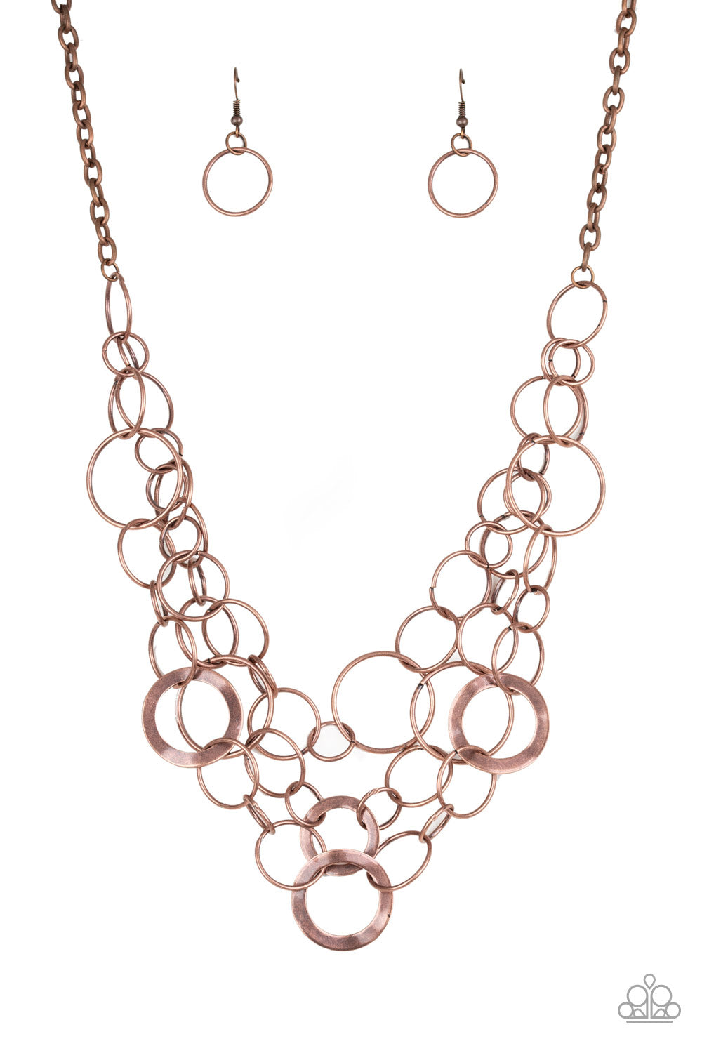 Paparazzi Necklace-Main Street Mechanics-Copper