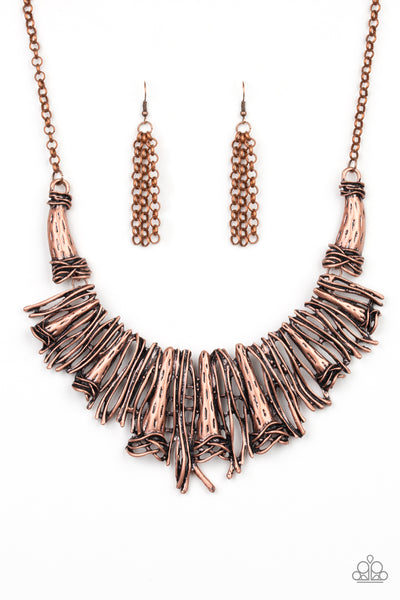 Paparazzi Necklace-In the Manestream-Copper