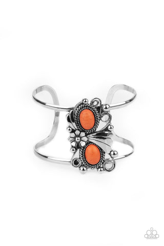 Paparazzi Bracelet-Mojave Flower Girl-Orange