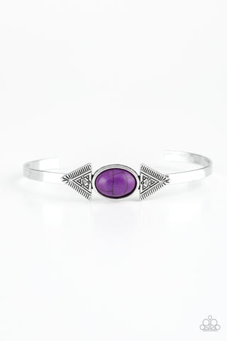 Paparazzi Bracelet-Apache Trail-Purple