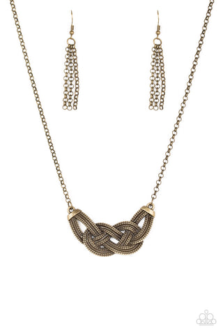Paparazzi Necklace-Nautically Naples-Brass