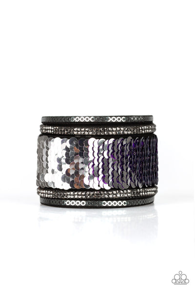 Paparazzi Bracelet-Heads or Mermaid Tails-Purple