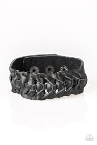 Paparazzi Men's Urban Bracelet-Rustle Up-Black