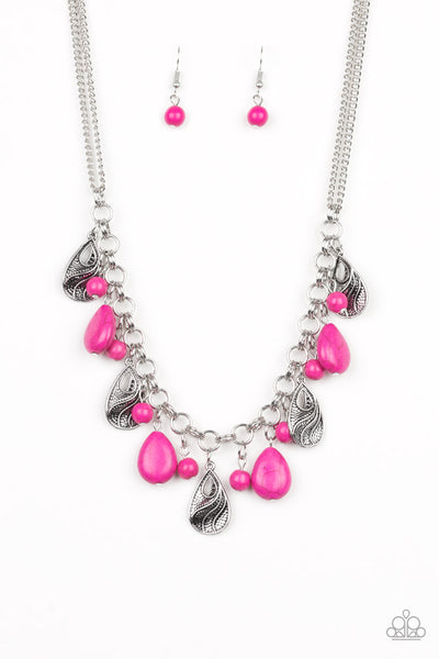 Paparazzi Necklace-Terra Tranquility-Pink