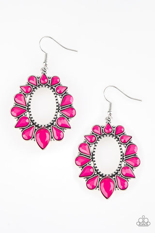 Paparazzi Earring-Fashionista Flavor-Pink