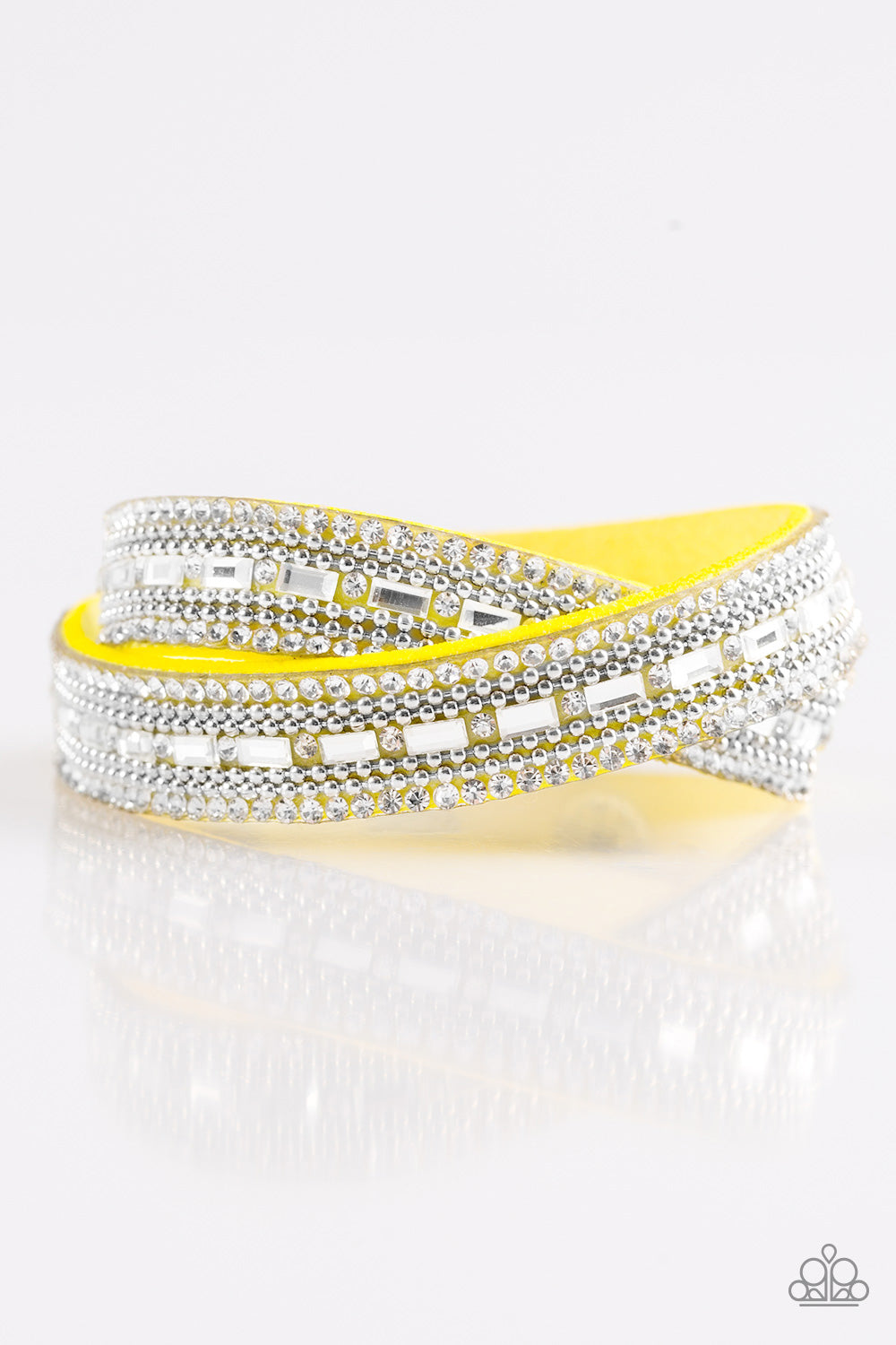 Paparazzi Bracelet-Shimmer and Sass-Yellow
