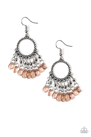 Paparazzi Earring-Paradise Palace-Brown