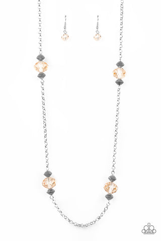Paparazzi Necklace-A Season of Sparkle-Brown